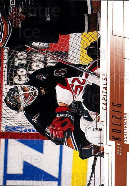2000-01 Upper Deck #408 Olaf Kolzig<br/>5 In Stock - $1.00 each - <a href=https://centericecollectibles.foxycart.com/cart?name=2000-01%20Upper%20Deck%20%23408%20Olaf%20Kolzig...&quantity_max=5&price=$1.00&code=195928 class=foxycart> Buy it now! </a>