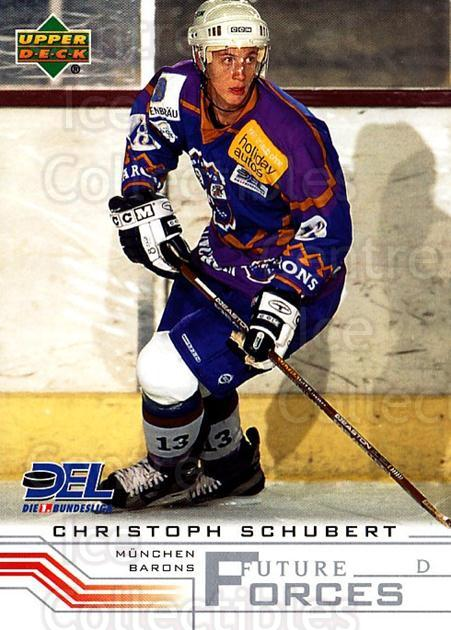 2001-02 German DEL #263 Christoph Schubert<br/>3 In Stock - $2.00 each - <a href=https://centericecollectibles.foxycart.com/cart?name=2001-02%20German%20DEL%20%23263%20Christoph%20Schub...&quantity_max=3&price=$2.00&code=196026 class=foxycart> Buy it now! </a>