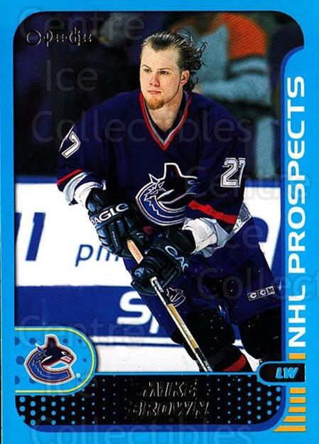 2001-02 O-Pee-Chee #297 Mike Brown<br/>4 In Stock - $1.00 each - <a href=https://centericecollectibles.foxycart.com/cart?name=2001-02%20O-Pee-Chee%20%23297%20Mike%20Brown...&quantity_max=4&price=$1.00&code=196126 class=foxycart> Buy it now! </a>