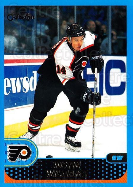 2001-02 O-Pee-Chee #33 Justin Williams<br/>4 In Stock - $1.00 each - <a href=https://centericecollectibles.foxycart.com/cart?name=2001-02%20O-Pee-Chee%20%2333%20Justin%20Williams...&quantity_max=4&price=$1.00&code=196161 class=foxycart> Buy it now! </a>