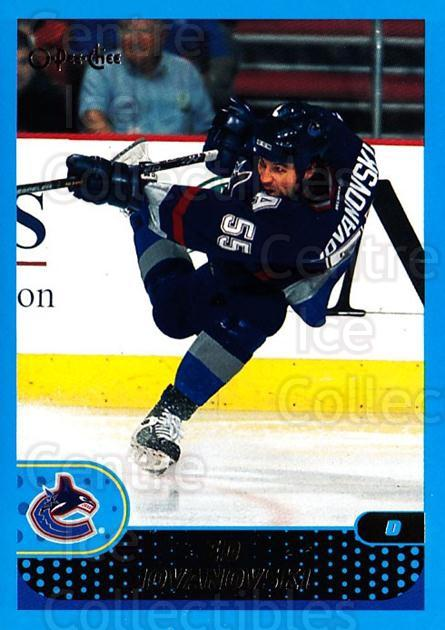 2001-02 O-Pee-Chee #40 Ed Jovanovski<br/>4 In Stock - $1.00 each - <a href=https://centericecollectibles.foxycart.com/cart?name=2001-02%20O-Pee-Chee%20%2340%20Ed%20Jovanovski...&quantity_max=4&price=$1.00&code=196170 class=foxycart> Buy it now! </a>
