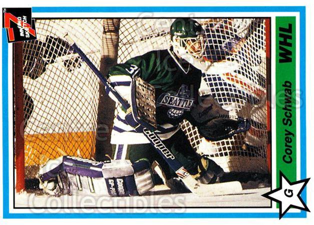 1990-91 7th Inning Sketch WHL #19 Corey Schwab<br/>7 In Stock - $1.00 each - <a href=https://centericecollectibles.foxycart.com/cart?name=1990-91%207th%20Inning%20Sketch%20WHL%20%2319%20Corey%20Schwab...&price=$1.00&code=19642 class=foxycart> Buy it now! </a>