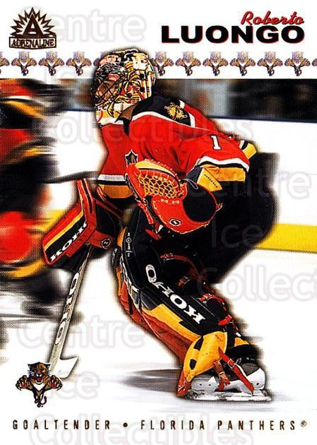 2001-02 Pacific Adrenaline #83 Roberto Luongo<br/>3 In Stock - $2.00 each - <a href=https://centericecollectibles.foxycart.com/cart?name=2001-02%20Pacific%20Adrenaline%20%2383%20Roberto%20Luongo...&quantity_max=3&price=$2.00&code=196657 class=foxycart> Buy it now! </a>