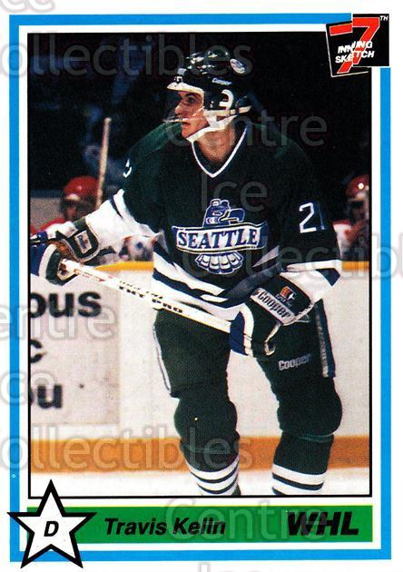 1990-91 7th Inning Sketch WHL #21 Travis Kelln<br/>9 In Stock - $1.00 each - <a href=https://centericecollectibles.foxycart.com/cart?name=1990-91%207th%20Inning%20Sketch%20WHL%20%2321%20Travis%20Kelln...&price=$1.00&code=19665 class=foxycart> Buy it now! </a>
