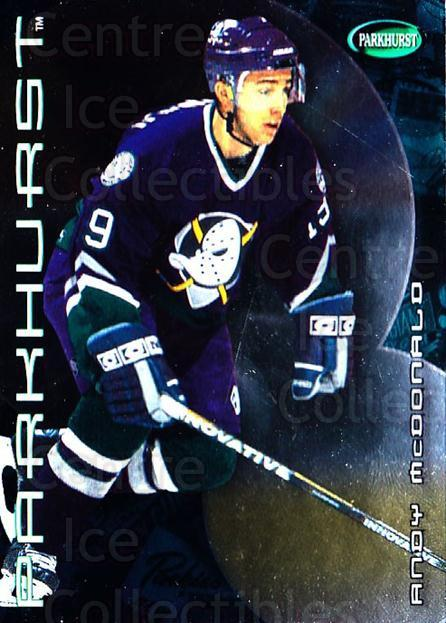 2001-02 Parkhurst #352 Andy McDonald<br/>8 In Stock - $1.00 each - <a href=https://centericecollectibles.foxycart.com/cart?name=2001-02%20Parkhurst%20%23352%20Andy%20McDonald...&quantity_max=8&price=$1.00&code=196737 class=foxycart> Buy it now! </a>