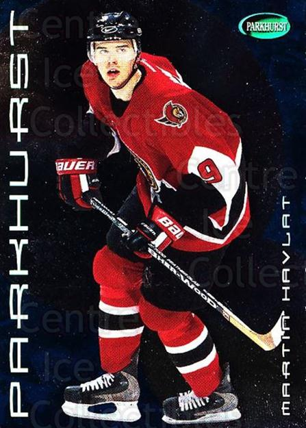 2001-02 Parkhurst #97 Martin Havlat<br/>8 In Stock - $1.00 each - <a href=https://centericecollectibles.foxycart.com/cart?name=2001-02%20Parkhurst%20%2397%20Martin%20Havlat...&quantity_max=8&price=$1.00&code=196839 class=foxycart> Buy it now! </a>