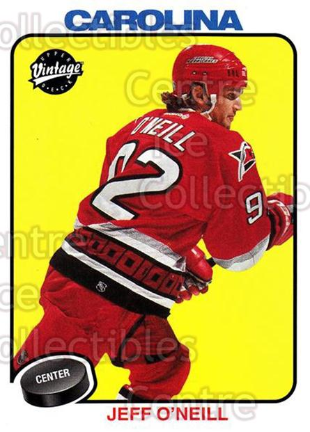 2001-02 UD Vintage #44 Jeff O'Neill<br/>7 In Stock - $1.00 each - <a href=https://centericecollectibles.foxycart.com/cart?name=2001-02%20UD%20Vintage%20%2344%20Jeff%20O'Neill...&quantity_max=7&price=$1.00&code=197343 class=foxycart> Buy it now! </a>