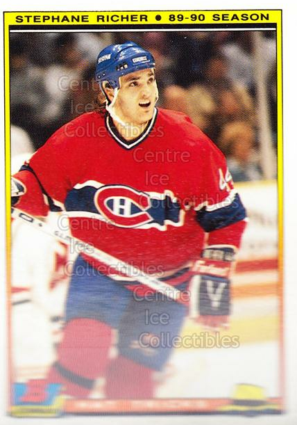 1990-91 Bowman Hat Tricks Tiffany #11 Stephane Richer<br/>9 In Stock - $2.00 each - <a href=https://centericecollectibles.foxycart.com/cart?name=1990-91%20Bowman%20Hat%20Tricks%20Tiffany%20%2311%20Stephane%20Richer...&quantity_max=9&price=$2.00&code=19734 class=foxycart> Buy it now! </a>