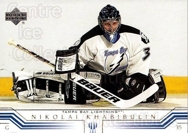 2001-02 Upper Deck #157 Nikolai Khabibulin<br/>7 In Stock - $1.00 each - <a href=https://centericecollectibles.foxycart.com/cart?name=2001-02%20Upper%20Deck%20%23157%20Nikolai%20Khabibu...&quantity_max=7&price=$1.00&code=197464 class=foxycart> Buy it now! </a>
