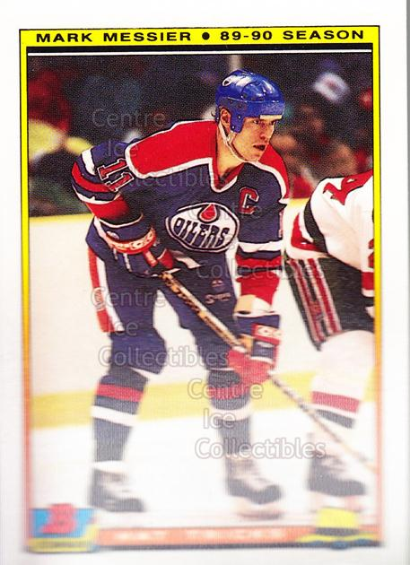 1990-91 Bowman Hat Tricks Tiffany #4 Mark Messier<br/>3 In Stock - $2.00 each - <a href=https://centericecollectibles.foxycart.com/cart?name=1990-91%20Bowman%20Hat%20Tricks%20Tiffany%20%234%20Mark%20Messier...&price=$2.00&code=19747 class=foxycart> Buy it now! </a>