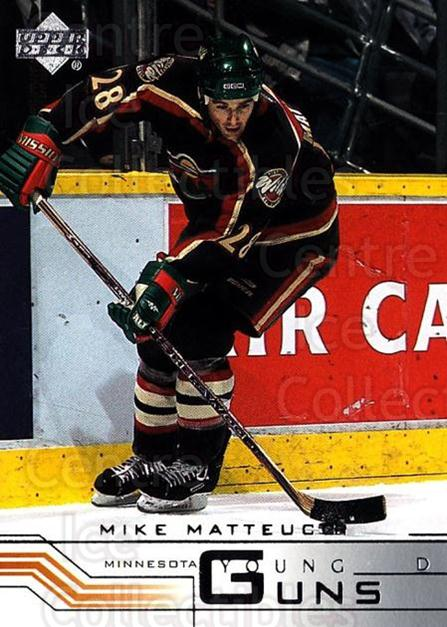 2001-02 Upper Deck #192 Mike Matteucci<br/>2 In Stock - $5.00 each - <a href=https://centericecollectibles.foxycart.com/cart?name=2001-02%20Upper%20Deck%20%23192%20Mike%20Matteucci...&quantity_max=2&price=$5.00&code=197494 class=foxycart> Buy it now! </a>