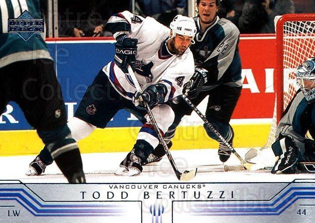 2001-02 Upper Deck #401 Todd Bertuzzi<br/>7 In Stock - $1.00 each - <a href=https://centericecollectibles.foxycart.com/cart?name=2001-02%20Upper%20Deck%20%23401%20Todd%20Bertuzzi...&quantity_max=7&price=$1.00&code=197692 class=foxycart> Buy it now! </a>