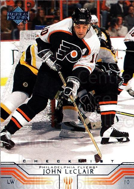 2001-02 Upper Deck #410 John LeClair, Checklist<br/>4 In Stock - $1.00 each - <a href=https://centericecollectibles.foxycart.com/cart?name=2001-02%20Upper%20Deck%20%23410%20John%20LeClair,%20C...&quantity_max=4&price=$1.00&code=197702 class=foxycart> Buy it now! </a>