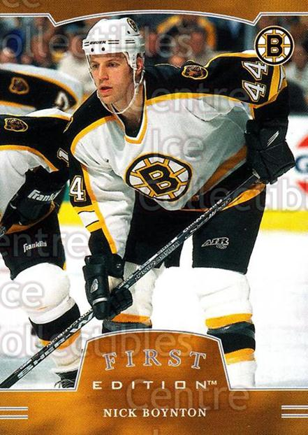 2002-03 BAP First Edition #35 Nick Boynton<br/>3 In Stock - $1.00 each - <a href=https://centericecollectibles.foxycart.com/cart?name=2002-03%20BAP%20First%20Edition%20%2335%20Nick%20Boynton...&quantity_max=3&price=$1.00&code=197837 class=foxycart> Buy it now! </a>