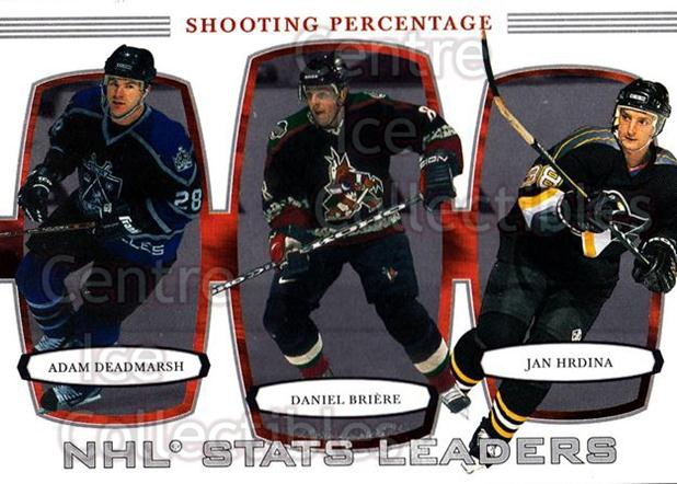 2002-03 BAP First Edition #388 Daniel Briere, Adam Deadmarsh, Jan Hrdina<br/>3 In Stock - $2.00 each - <a href=https://centericecollectibles.foxycart.com/cart?name=2002-03%20BAP%20First%20Edition%20%23388%20Daniel%20Briere,%20...&quantity_max=3&price=$2.00&code=197862 class=foxycart> Buy it now! </a>