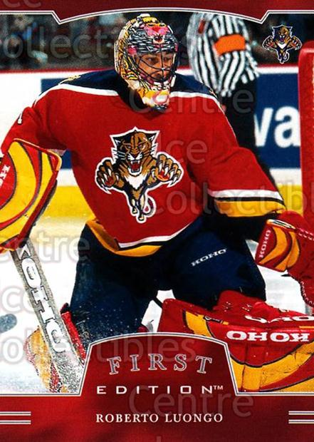 2002-03 BAP First Edition #89 Roberto Luongo<br/>3 In Stock - $2.00 each - <a href=https://centericecollectibles.foxycart.com/cart?name=2002-03%20BAP%20First%20Edition%20%2389%20Roberto%20Luongo...&quantity_max=3&price=$2.00&code=197919 class=foxycart> Buy it now! </a>