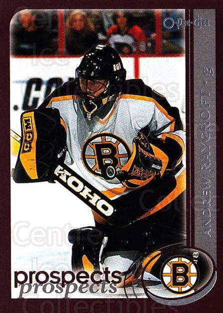2002-03 O-Pee-Chee #281 Andrew Raycroft<br/>6 In Stock - $1.00 each - <a href=https://centericecollectibles.foxycart.com/cart?name=2002-03%20O-Pee-Chee%20%23281%20Andrew%20Raycroft...&quantity_max=6&price=$1.00&code=197993 class=foxycart> Buy it now! </a>