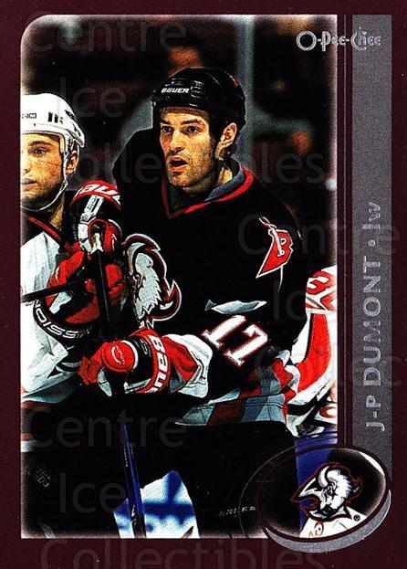 2002-03 O-Pee-Chee #30 JP Dumont<br/>6 In Stock - $1.00 each - <a href=https://centericecollectibles.foxycart.com/cart?name=2002-03%20O-Pee-Chee%20%2330%20JP%20Dumont...&quantity_max=6&price=$1.00&code=198009 class=foxycart> Buy it now! </a>