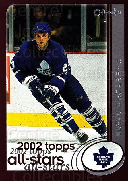 2002-03 O-Pee-Chee #322 Bryan McCabe<br/>5 In Stock - $1.00 each - <a href=https://centericecollectibles.foxycart.com/cart?name=2002-03%20O-Pee-Chee%20%23322%20Bryan%20McCabe...&quantity_max=5&price=$1.00&code=198034 class=foxycart> Buy it now! </a>