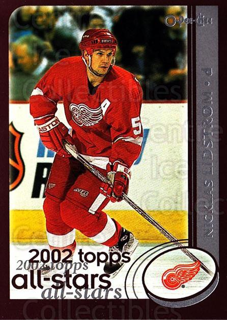 2002-03 O-Pee-Chee #324 Nicklas Lidstrom<br/>5 In Stock - $1.00 each - <a href=https://centericecollectibles.foxycart.com/cart?name=2002-03%20O-Pee-Chee%20%23324%20Nicklas%20Lidstro...&quantity_max=5&price=$1.00&code=198035 class=foxycart> Buy it now! </a>
