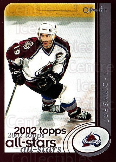 2002-03 O-Pee-Chee #330 Joe Sakic<br/>4 In Stock - $2.00 each - <a href=https://centericecollectibles.foxycart.com/cart?name=2002-03%20O-Pee-Chee%20%23330%20Joe%20Sakic...&quantity_max=4&price=$2.00&code=198042 class=foxycart> Buy it now! </a>