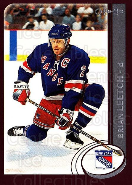 2002-03 O-Pee-Chee #57 Brian Leetch<br/>5 In Stock - $1.00 each - <a href=https://centericecollectibles.foxycart.com/cart?name=2002-03%20O-Pee-Chee%20%2357%20Brian%20Leetch...&quantity_max=5&price=$1.00&code=198070 class=foxycart> Buy it now! </a>