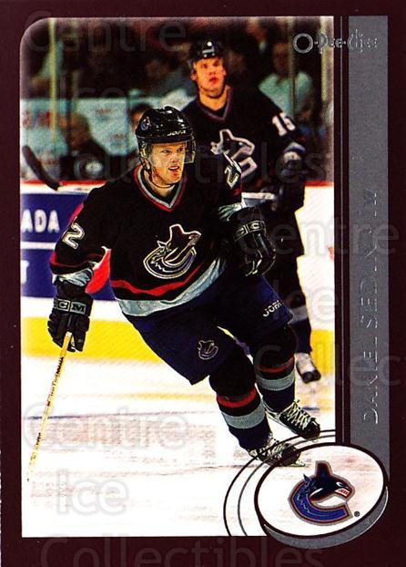 2002-03 O-Pee-Chee #58 Daniel Sedin<br/>6 In Stock - $1.00 each - <a href=https://centericecollectibles.foxycart.com/cart?name=2002-03%20O-Pee-Chee%20%2358%20Daniel%20Sedin...&quantity_max=6&price=$1.00&code=198071 class=foxycart> Buy it now! </a>