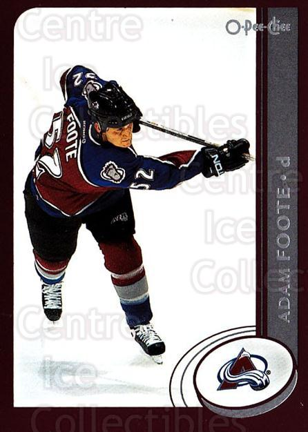 2002-03 O-Pee-Chee #78 Adam Foote<br/>4 In Stock - $1.00 each - <a href=https://centericecollectibles.foxycart.com/cart?name=2002-03%20O-Pee-Chee%20%2378%20Adam%20Foote...&quantity_max=4&price=$1.00&code=198094 class=foxycart> Buy it now! </a>