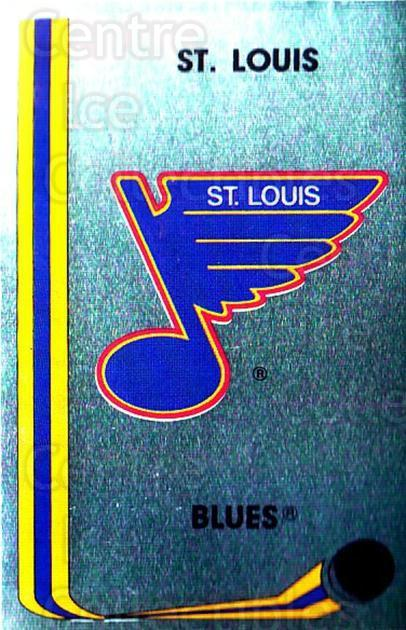 1989-90 Panini Stickers #116 St. Louis Blues<br/>2 In Stock - $1.00 each - <a href=https://centericecollectibles.foxycart.com/cart?name=1989-90%20Panini%20Stickers%20%23116%20St.%20Louis%20Blues...&quantity_max=2&price=$1.00&code=19895 class=foxycart> Buy it now! </a>