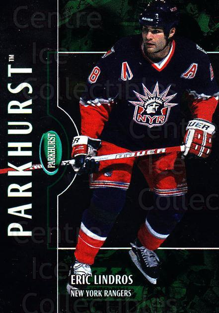 2002-03 Parkhurst #58 Eric Lindros<br/>5 In Stock - $1.00 each - <a href=https://centericecollectibles.foxycart.com/cart?name=2002-03%20Parkhurst%20%2358%20Eric%20Lindros...&quantity_max=5&price=$1.00&code=199077 class=foxycart> Buy it now! </a>