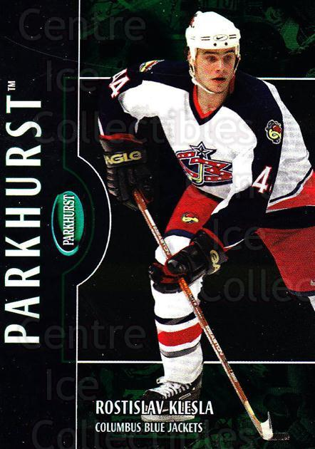 2002-03 Parkhurst #62 Rostislav Klesla<br/>2 In Stock - $1.00 each - <a href=https://centericecollectibles.foxycart.com/cart?name=2002-03%20Parkhurst%20%2362%20Rostislav%20Klesl...&quantity_max=2&price=$1.00&code=199081 class=foxycart> Buy it now! </a>