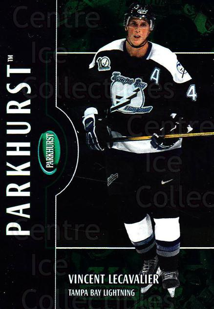 2002-03 Parkhurst #77 Vincent Lecavalier<br/>4 In Stock - $1.00 each - <a href=https://centericecollectibles.foxycart.com/cart?name=2002-03%20Parkhurst%20%2377%20Vincent%20Lecaval...&quantity_max=4&price=$1.00&code=199094 class=foxycart> Buy it now! </a>