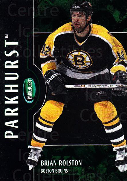 2002-03 Parkhurst #81 Brian Rolston<br/>3 In Stock - $1.00 each - <a href=https://centericecollectibles.foxycart.com/cart?name=2002-03%20Parkhurst%20%2381%20Brian%20Rolston...&quantity_max=3&price=$1.00&code=199099 class=foxycart> Buy it now! </a>