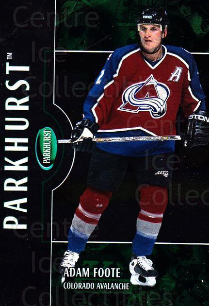 2002-03 Parkhurst #85 Adam Foote<br/>3 In Stock - $1.00 each - <a href=https://centericecollectibles.foxycart.com/cart?name=2002-03%20Parkhurst%20%2385%20Adam%20Foote...&quantity_max=3&price=$1.00&code=199102 class=foxycart> Buy it now! </a>