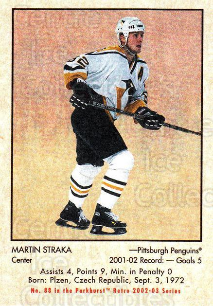 2002-03 Parkhurst Retro #88 Martin Straka<br/>3 In Stock - $1.00 each - <a href=https://centericecollectibles.foxycart.com/cart?name=2002-03%20Parkhurst%20Retro%20%2388%20Martin%20Straka...&quantity_max=3&price=$1.00&code=199154 class=foxycart> Buy it now! </a>