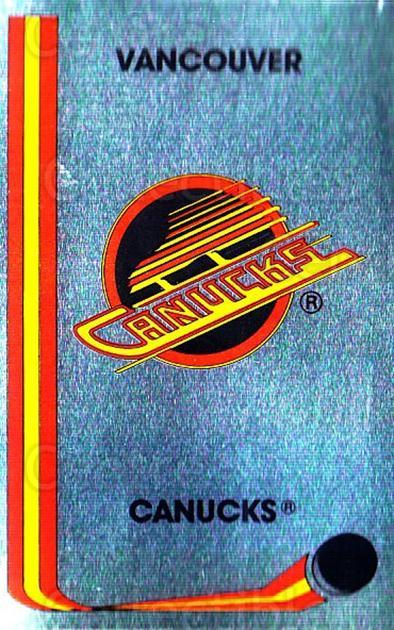 1989-90 Panini Stickers #146 Vancouver Canucks<br/>2 In Stock - $1.00 each - <a href=https://centericecollectibles.foxycart.com/cart?name=1989-90%20Panini%20Stickers%20%23146%20Vancouver%20Canuc...&quantity_max=2&price=$1.00&code=19925 class=foxycart> Buy it now! </a>