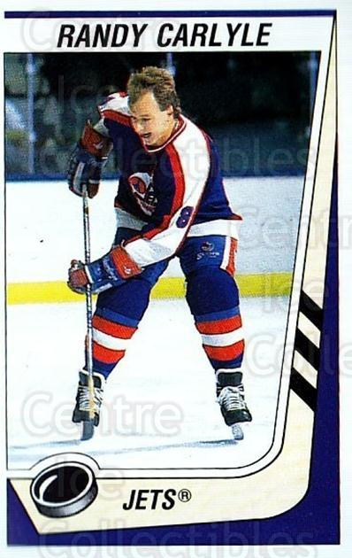 1989-90 Panini Stickers #168 Randy Carlyle<br/>3 In Stock - $1.00 each - <a href=https://centericecollectibles.foxycart.com/cart?name=1989-90%20Panini%20Stickers%20%23168%20Randy%20Carlyle...&quantity_max=3&price=$1.00&code=19948 class=foxycart> Buy it now! </a>