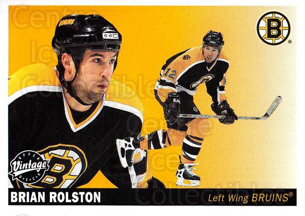 2002-03 UD Vintage #25 Brian Rolston<br/>12 In Stock - $1.00 each - <a href=https://centericecollectibles.foxycart.com/cart?name=2002-03%20UD%20Vintage%20%2325%20Brian%20Rolston...&quantity_max=12&price=$1.00&code=199888 class=foxycart> Buy it now! </a>