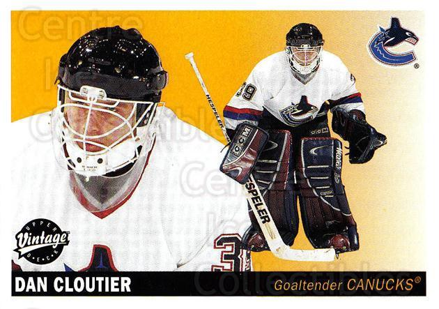 2002-03 UD Vintage #250 Dan Cloutier<br/>5 In Stock - $1.00 each - <a href=https://centericecollectibles.foxycart.com/cart?name=2002-03%20UD%20Vintage%20%23250%20Dan%20Cloutier...&quantity_max=5&price=$1.00&code=199889 class=foxycart> Buy it now! </a>