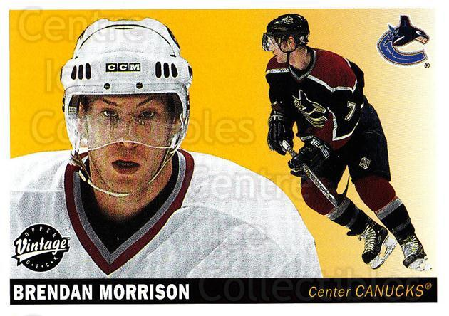 2002-03 UD Vintage #251 Brendan Morrison<br/>7 In Stock - $1.00 each - <a href=https://centericecollectibles.foxycart.com/cart?name=2002-03%20UD%20Vintage%20%23251%20Brendan%20Morriso...&quantity_max=7&price=$1.00&code=199890 class=foxycart> Buy it now! </a>