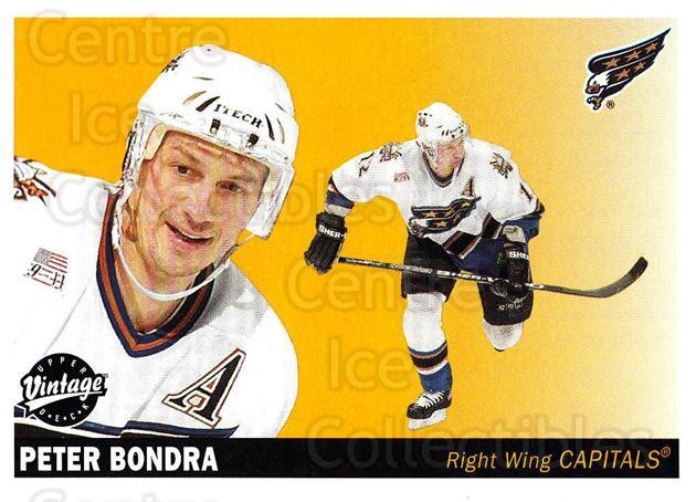 2002-03 UD Vintage #255 Peter Bondra<br/>9 In Stock - $1.00 each - <a href=https://centericecollectibles.foxycart.com/cart?name=2002-03%20UD%20Vintage%20%23255%20Peter%20Bondra...&quantity_max=9&price=$1.00&code=199894 class=foxycart> Buy it now! </a>