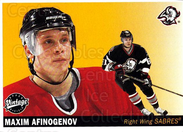 2002-03 UD Vintage #30 Maxim Afinogenov<br/>6 In Stock - $1.00 each - <a href=https://centericecollectibles.foxycart.com/cart?name=2002-03%20UD%20Vintage%20%2330%20Maxim%20Afinogeno...&quantity_max=6&price=$1.00&code=199911 class=foxycart> Buy it now! </a>