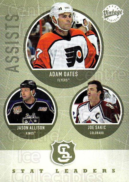 2002-03 UD Vintage #307 Jason Allison, Joe Sakic, Adam Oates<br/>6 In Stock - $2.00 each - <a href=https://centericecollectibles.foxycart.com/cart?name=2002-03%20UD%20Vintage%20%23307%20Jason%20Allison,%20...&quantity_max=6&price=$2.00&code=199919 class=foxycart> Buy it now! </a>