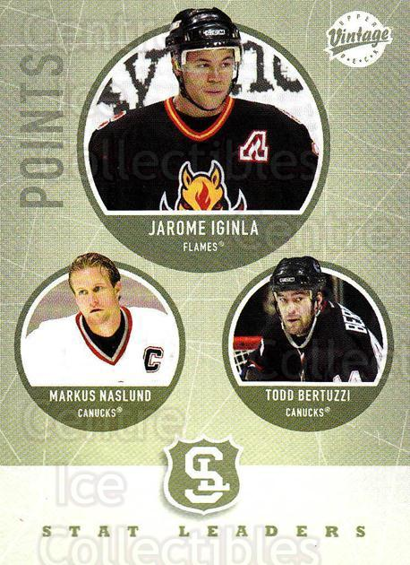 2002-03 UD Vintage #308 Jarome Iginla, Markus Naslund, Todd Bertuzzi<br/>7 In Stock - $2.00 each - <a href=https://centericecollectibles.foxycart.com/cart?name=2002-03%20UD%20Vintage%20%23308%20Jarome%20Iginla,%20...&quantity_max=7&price=$2.00&code=199920 class=foxycart> Buy it now! </a>