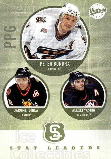 2002-03 UD Vintage #309 Peter Bondra, Jarome Iginla, Alexei Yashin<br/>5 In Stock - $2.00 each - <a href=https://centericecollectibles.foxycart.com/cart?name=2002-03%20UD%20Vintage%20%23309%20Peter%20Bondra,%20J...&quantity_max=5&price=$2.00&code=199921 class=foxycart> Buy it now! </a>