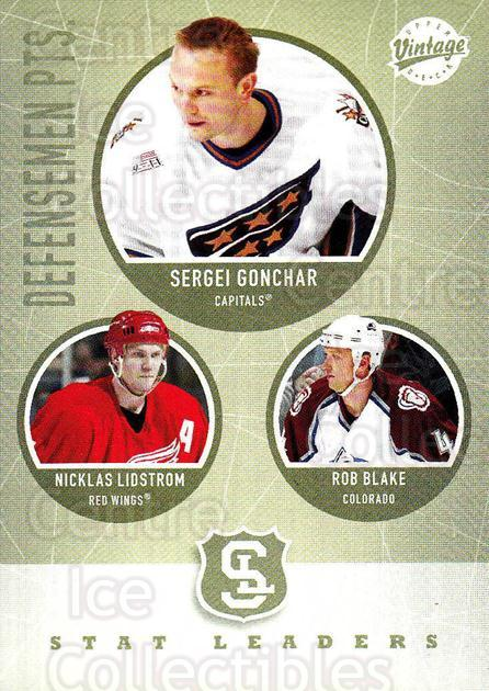 2002-03 UD Vintage #310 Sergei Gonchar, Nicklas Lidstrom, Rob Blake<br/>9 In Stock - $2.00 each - <a href=https://centericecollectibles.foxycart.com/cart?name=2002-03%20UD%20Vintage%20%23310%20Sergei%20Gonchar,...&quantity_max=9&price=$2.00&code=199923 class=foxycart> Buy it now! </a>