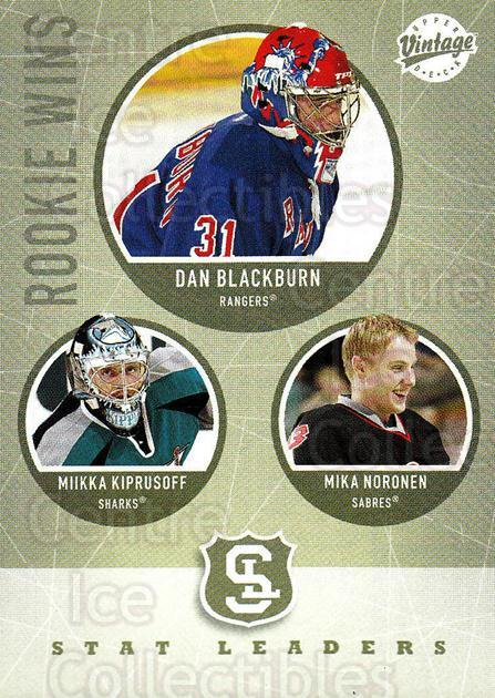 2002-03 UD Vintage #320 Miikka Kiprusoff, Mika Noronen, Dan Blackburn<br/>4 In Stock - $2.00 each - <a href=https://centericecollectibles.foxycart.com/cart?name=2002-03%20UD%20Vintage%20%23320%20Miikka%20Kiprusof...&quantity_max=4&price=$2.00&code=199932 class=foxycart> Buy it now! </a>