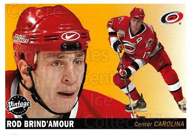 2002-03 UD Vintage #46 Rod Brind'Amour<br/>9 In Stock - $1.00 each - <a href=https://centericecollectibles.foxycart.com/cart?name=2002-03%20UD%20Vintage%20%2346%20Rod%20Brind'Amour...&quantity_max=9&price=$1.00&code=199975 class=foxycart> Buy it now! </a>