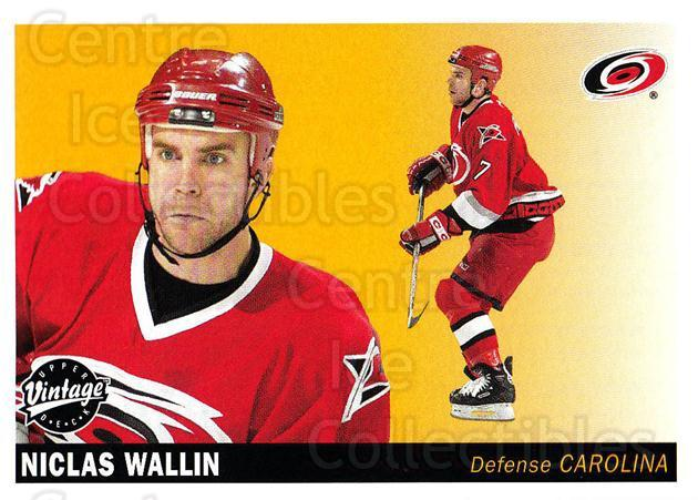 2002-03 UD Vintage #47 Niclas Wallin<br/>7 In Stock - $1.00 each - <a href=https://centericecollectibles.foxycart.com/cart?name=2002-03%20UD%20Vintage%20%2347%20Niclas%20Wallin...&quantity_max=7&price=$1.00&code=199976 class=foxycart> Buy it now! </a>