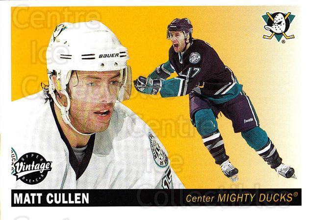 2002-03 UD Vintage #5 Matt Cullen<br/>10 In Stock - $1.00 each - <a href=https://centericecollectibles.foxycart.com/cart?name=2002-03%20UD%20Vintage%20%235%20Matt%20Cullen...&quantity_max=10&price=$1.00&code=199979 class=foxycart> Buy it now! </a>
